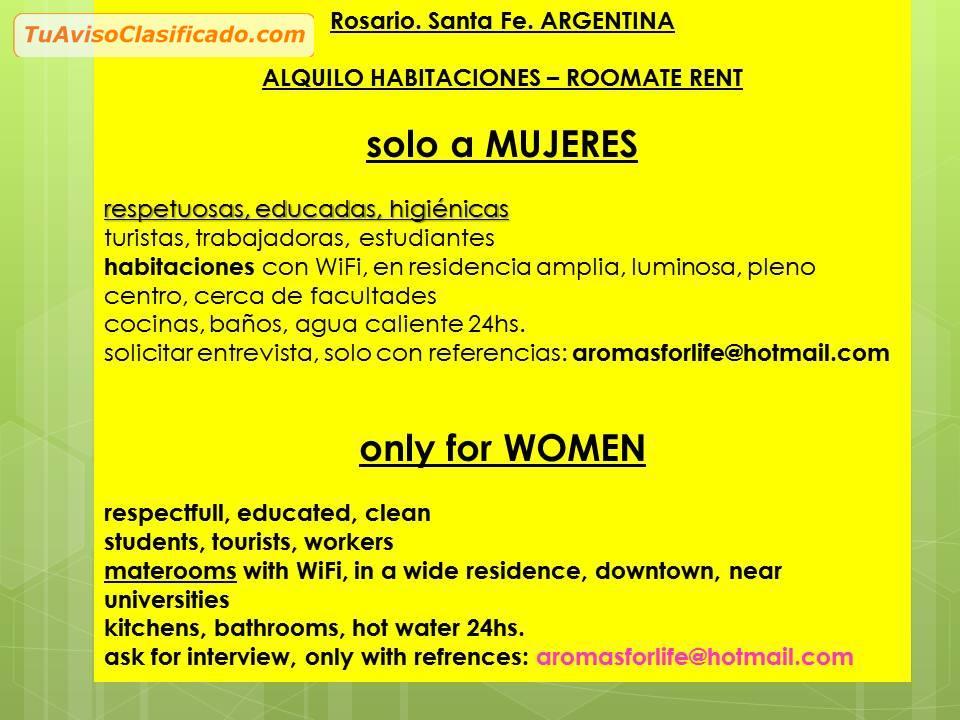 Only women roomate in rosario argentina inmuebles y propiedad - Jm puerto del rosario ...
